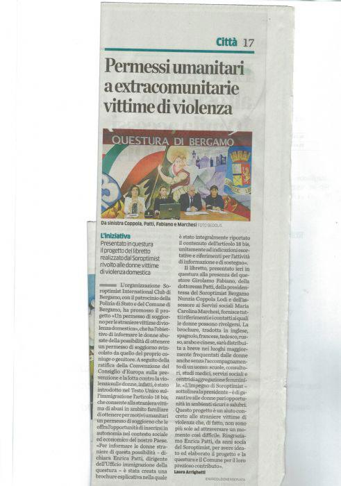 Soroptimist Progetti: Club Bergamo. Progetto: \