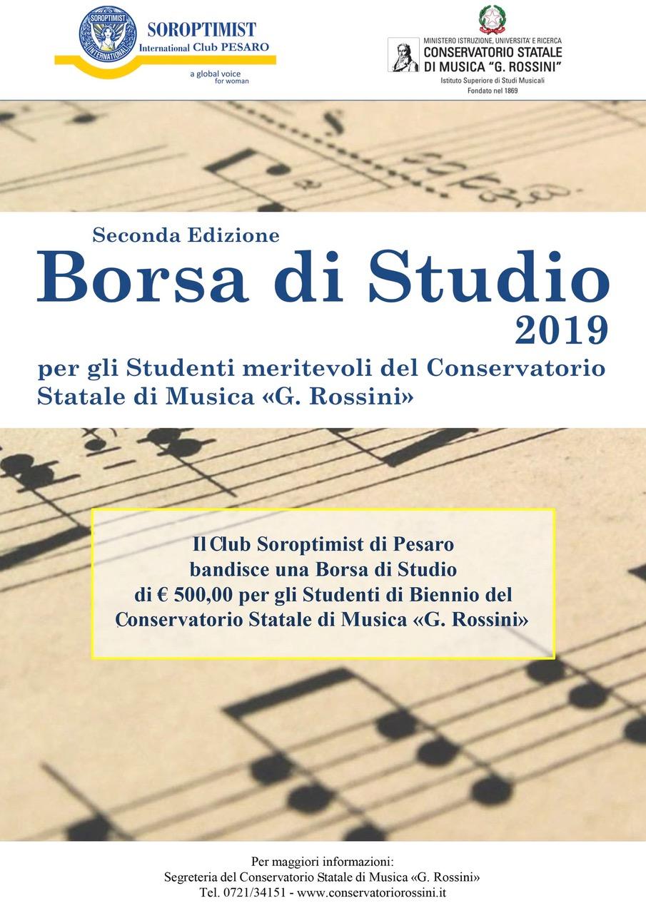 382d3e7c7c Il Club di Pesaro ha bandito una borsa di studio per gli Studenti di  Biennio del Conservatorio Statale di Musica